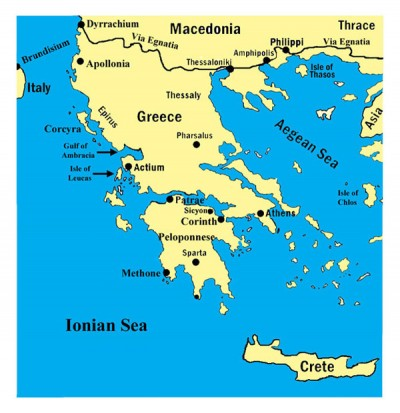 Map of Ancient Greece | Octavian: Rise to Power