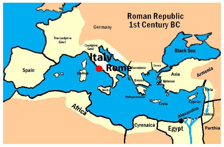 Map Of The Ancient Roman Empire Octavian Rise To Power