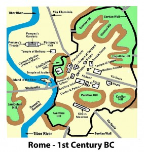Map Of Ancient Rome Octavian Rise To Power